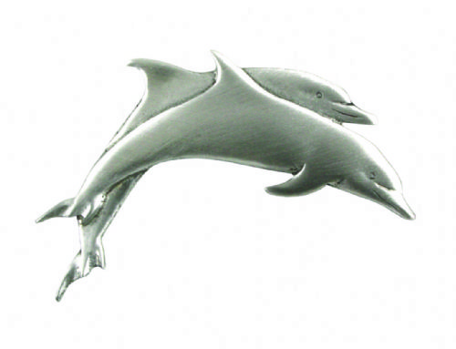 Double Dolphin Pin